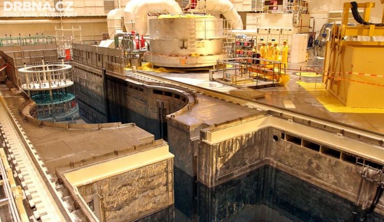 Bazén skladování paliva a reaktor druhého bloku Temelína
