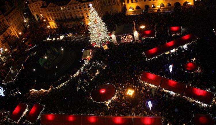 Bezpečnostní opatření při rozsvěcení vánočního stromu na Staroměstském náměstí
