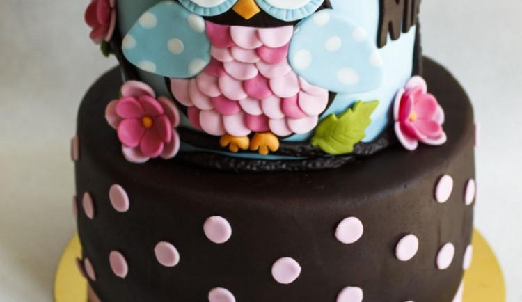 Narozeninový dort se sovou