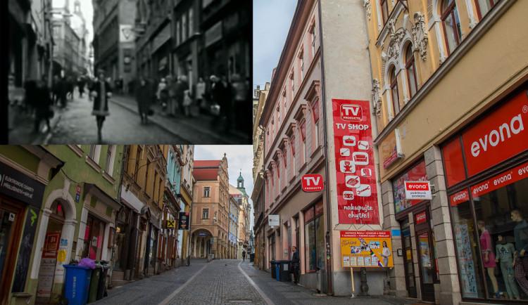 Liberec ve filmu: Zagorová zpívala v Pražské, tehdy přes Benešák jezdily tramvaje