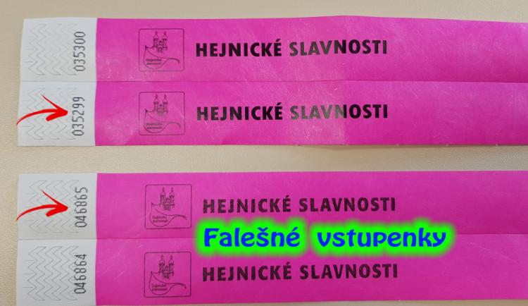 Máte lístky na Hejnické slavnosti? Tak pozor, možná jsou falešné. Na Hejnicku totiž řádí podvodník