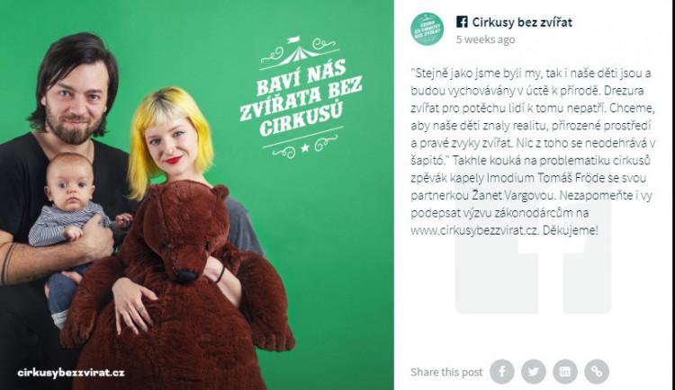 Divoká zvířata do šapitó nepatří, kampaň chce Cirkusy bez zvířat! Podporují ji i známé osobnosti.